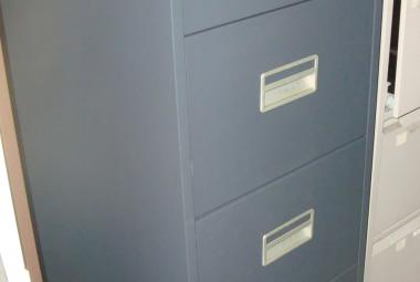 silverline midi 4 drawer filing cabinet used dark grey metal newbury basingstoke