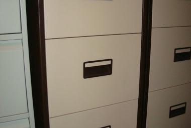 3 drawer brown and cream filing cabinet used newbury berkshire