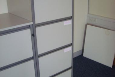4 drawer light grey mfc filing cabinet newbury berkshire basingstoke hampshire