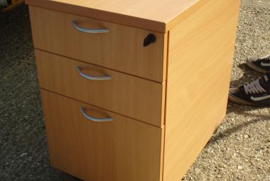 beech under desk drawers on castors newbury berkshire used
