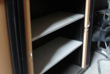 tambour cupboard with shelves wooden used newbury berkshire