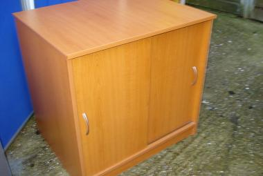 desk height sliding door cupboard 1 adjustable shelf cherry newbury reading berkshire