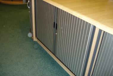 used tambour cupboard post formed edge maple newbury reading berks