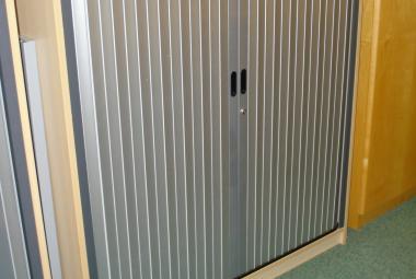 used tambour cupboard 1.2m tall maple adjustable shelves newbury berkshire