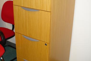 used 4 drawer oak filing cabinet reading berkshire