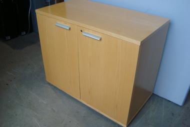 exec double door storage with silver handles maple veneer reading berkshire