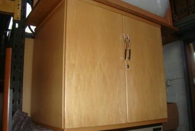 maple veneer 2 door office cupboard newbury berkshire