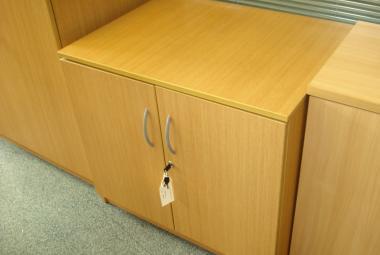 used office desk height cupboard oak berkshire
