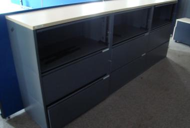 2 Drawer Side Filer with Flapper Shelf used reading berkshire