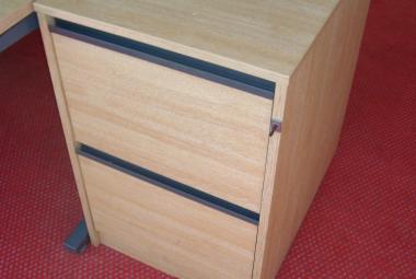 2 drawer filing cabinet grey flush handles