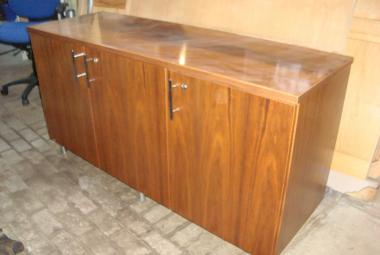 used walnut veneer credenza 3 door meeting room berkshire