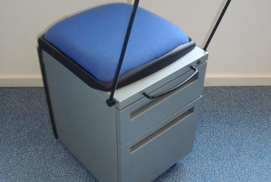 used k line metal hot desk pedestal desk drawers berkshire