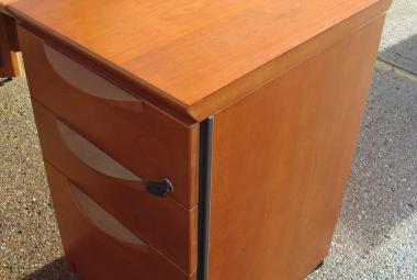 Sven cherry veneer 600mm desk height pedestal berkshire hampshire