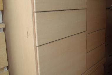800mm Deep Pedestal Light Beech 3 drawer