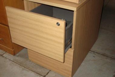 oak filing cabinet 2 drawer 42cm wide
