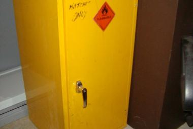 Yellow Metal Single Door Cupboard