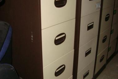 brown and cream 4 drawer filing cabinet silverline