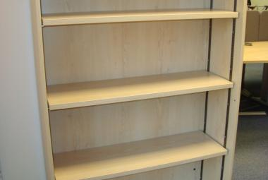 1600mm H maple bookcase with 4 shelves reading berkshire