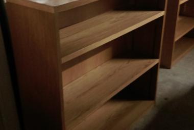 2 Shelf Office Bookcase oak veneer reading berkshire