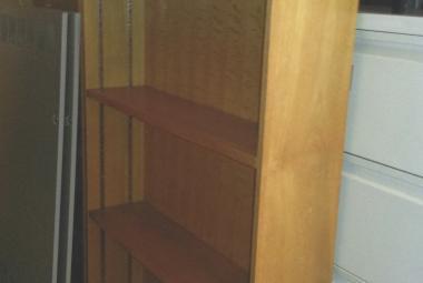 oak veneer bookcase 6ft tall berkshire hampshire used