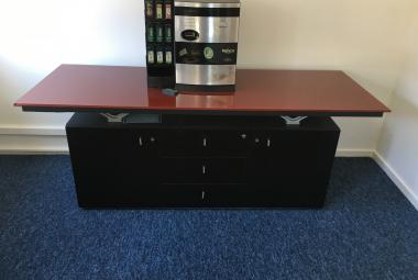 babini credenza red glass top newbury reading berkshire
