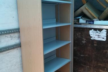 used vertical tambour cupboard with shelves light oak basingstoke hants