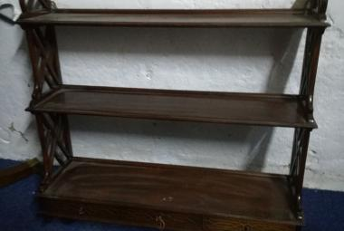 used traditional style wall mounted shelving unit with drawers newbury berks