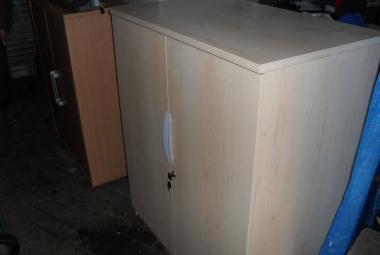 Double Door Maple Office Cupboard