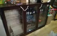 used lec 3 door glass fronted bottle fridge surrey berks