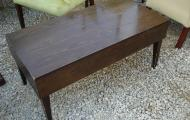 dark wood oblong coffee table pub hotel newbury reading berkshire