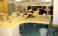 used 1600mm corner desk maple overhead storage newbury berkshire