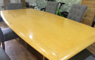 maple veneer exec meeting table 8 seater newbury reading berkshire