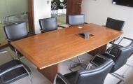 used walnut veneer 8 seater meeting table berks hants