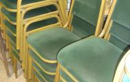 banquet chair dark green velour berkshire hampshire