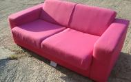 pink 2 seater sofa newbury reading berkshire