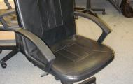 used manager style swivel chair black faux leather newbury berkshire