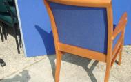 meeting chair with arms cherry frame