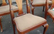 dark wood dining chair no arms newbury reading berks traditional