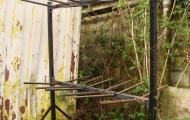 metal folding chair storage rack on castors basingstoke newbury reading